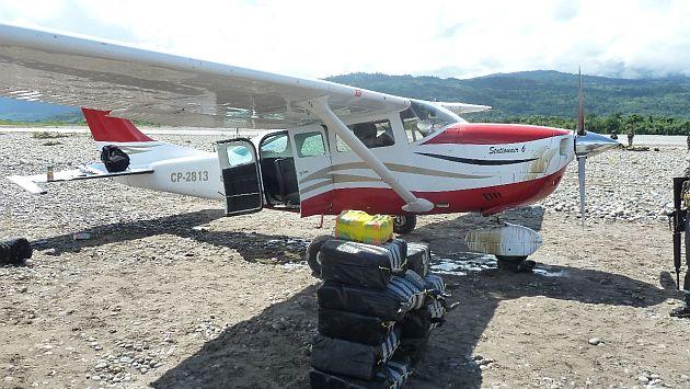 A captured drug plane in Peru
