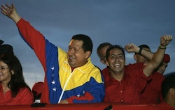 Robert Serra with former President Hugo Chavez