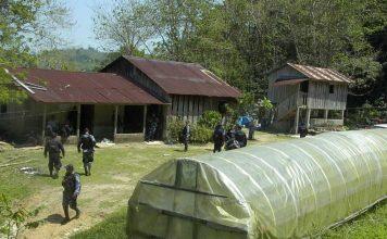 A cocaine laboratory in Honduras