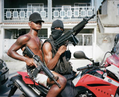 High powered weapons are popular with Rio gangs