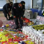Costa Rican authorities with seized contraband