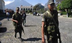 Guatemalan soldiers on patrol