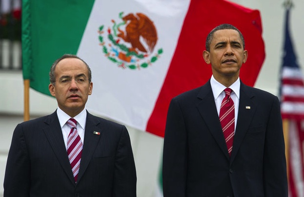 Felipe Calderon and Barack Obama