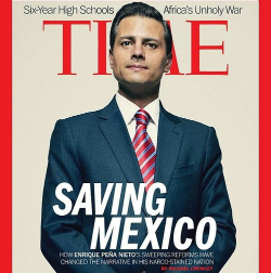 Mexico's Enrique Peña Nieto on cover of Time