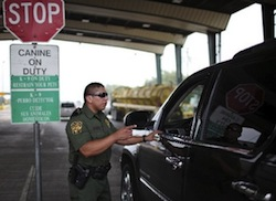 A US border patrol checkpoint in Texas