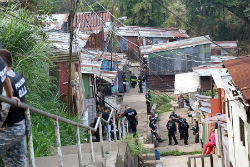 Costa Rican authorities conducting a raid