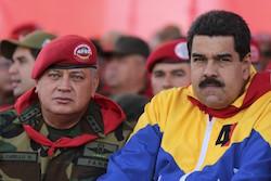 Diosdado Cabello with Nicolas Maduro