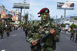 A member of El Salvador's special forces