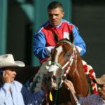 Jose Treviño and his winning racehorse