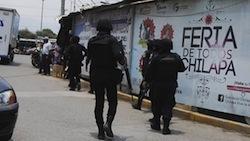 Soldiers in Chilapa, Guerrero