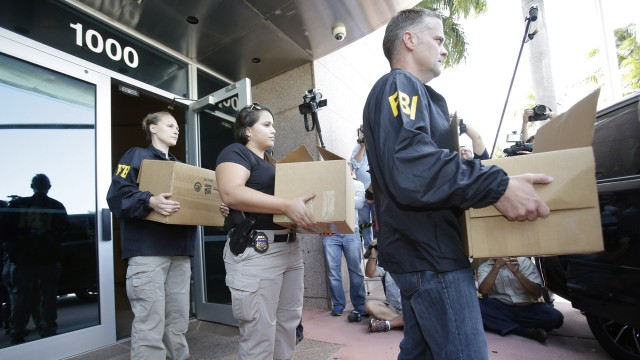 An FBI raid linked to the FIFA scandal