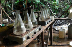The drug lab reportedly operated by the FARC