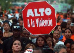 A march against violence in Latin America