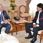 Bolivia President Evo Morales meets with US diplomat