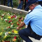 A commemorative event for slain Nicaraguan police