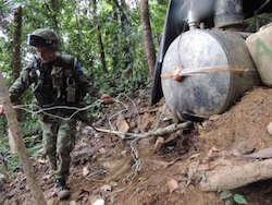 The FARC are deeply involved in the drug trade
