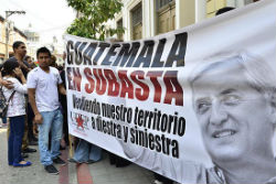 Protestors in Guatemala