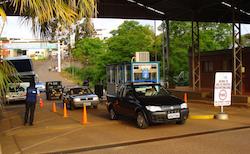 A border checkpoint in Bernardo de Irigoyen
