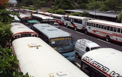 El Salvador's public bus system is extensive
