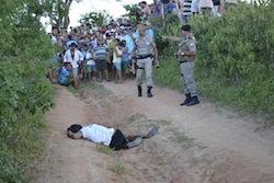 A crime scene in Alagoas, Brazil