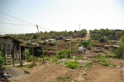 Makeshift homes of IDPs in Mexico