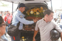 Funeral for a Venezuela police officer