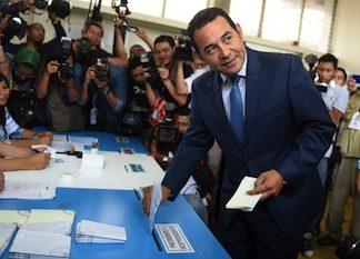 Guatemala's President-Elect Jimmy Morales Votes