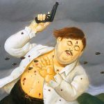 Pablo Escobar's death immortalized in a Fernando Botero painting