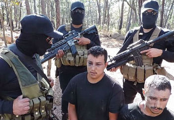 Armed members of Mexico's Jalisco Cartel