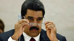 Several relatives of Maduro (pictured) have been accused of drug trafficking