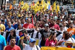A protest in Venezuela