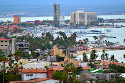 The city of La Paz in Baja California Sur, Mexico