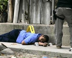 One of El Salvador's many murder scenes