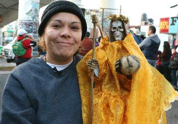 A follower of the Santa Muerte cult
