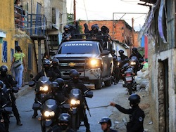 A security forces operation in Venezuela