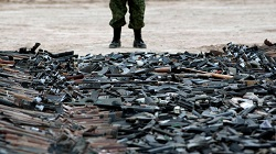 Weapons seized by Mexican officials
