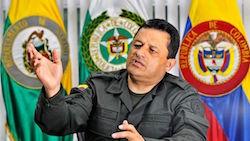 Colombia's National Police Director, Jorge Hernando Nieto