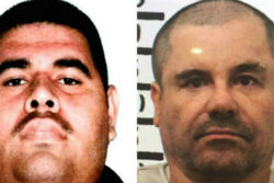 Juan Manuel Álvarez Inzunza (right) and El Chapo (left)