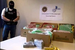 Colombian cocaine found in a German banana shipment