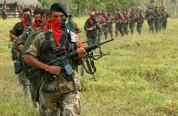 ELN combatants were involved in Monday's clashes