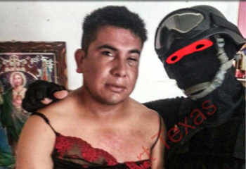 Cartel suspect with Mexican marine. c/o Breitbart Texas
