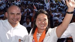 Presidential candidate Keiko Fujimori with Joaquín Ramírez