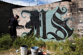MS13 graffiti in El Salvador