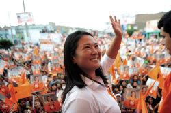 Peru's presidential frontrunner, Keiko Fujimori