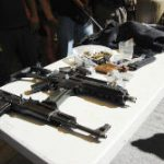 Confiscated weapons in Michoacan, Mexico