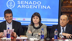 Security Minister Patricia Bullrich. c/o Clarin, Luciano Thieberger