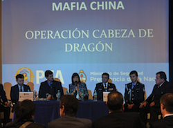 Security Minister Patricia Bullrich announces the results of Operation Dragon's Head
