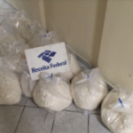 Packages of cocaine seized by Brazilian authorities