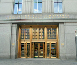 Entrance to the courthouse of the Southern District of New York