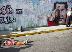 June was reportedly Caracas's most violent month this year.